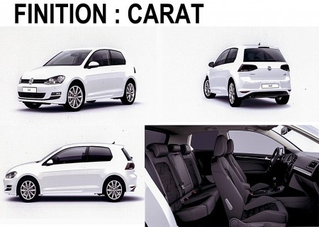 VOLKSWAGEN GOLF VII 1.4 TSI 125CH BM CARAT 5P + OPTIONS